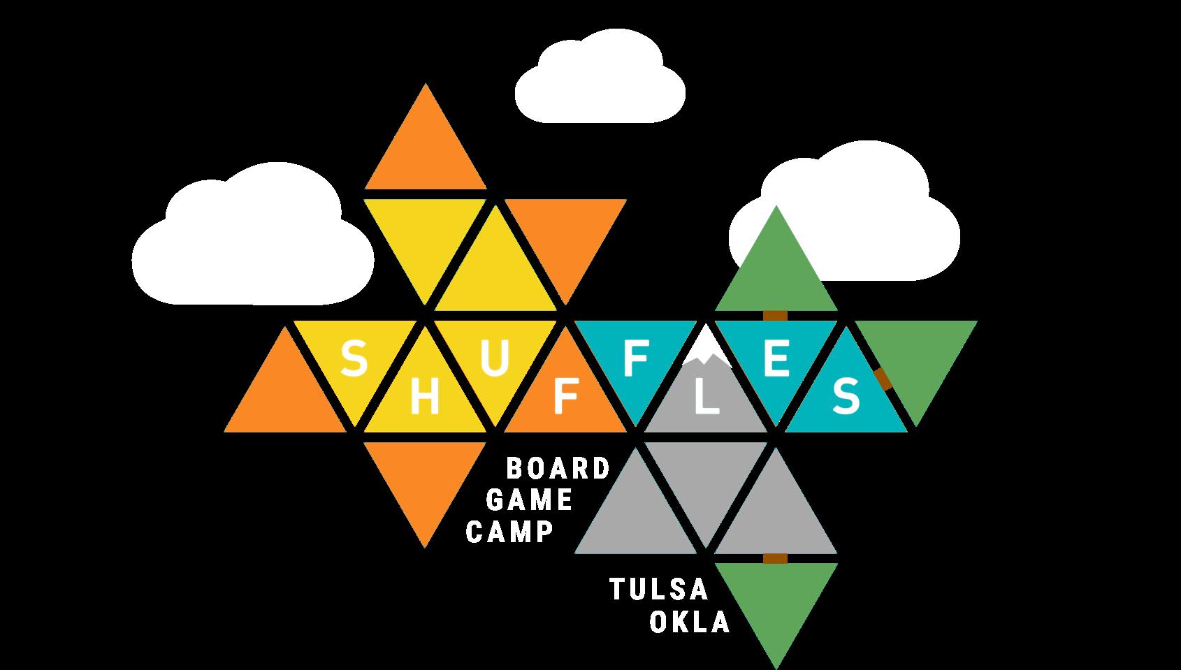Shuffles: Board Game Camp Logo